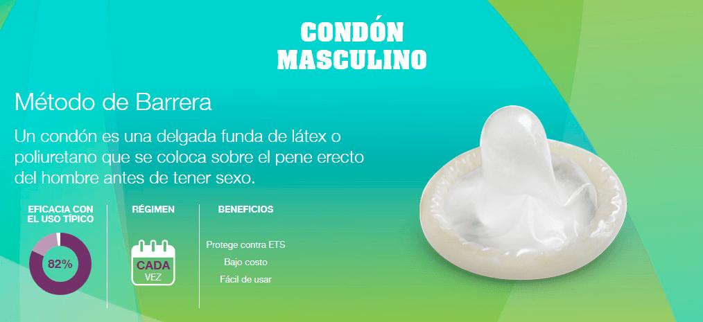 El preservativo masculino