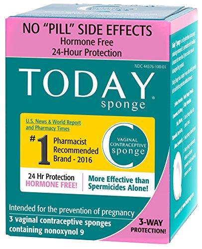 Today Sponge Vaginal Contraceptive sponges 3ea (for Women)